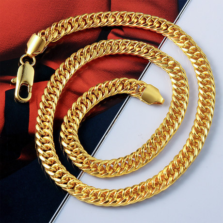 Snake Design Chain Necklace // 14K Gold Plated
