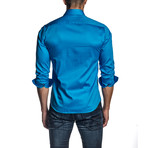 Drew Long Sleeve Shirt // Blue (XS)