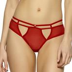 Kitty Strappy Mesh Bikini // Tango Red (M)