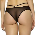 Kitty Strappy Mesh Bikini // Black (M)