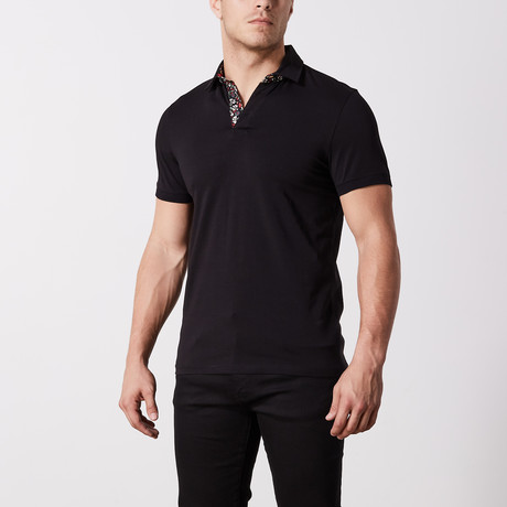 Albany Solid Polo // Black (S)