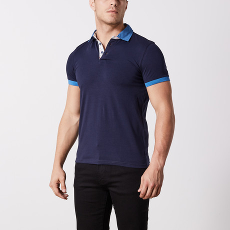 Knox Solid Polo // Navy (S)