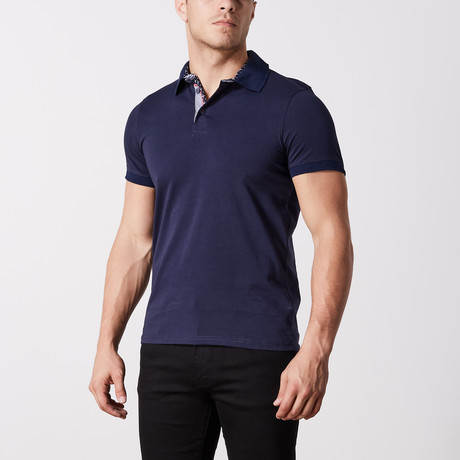 Miller Solid Polo // Navy (S)