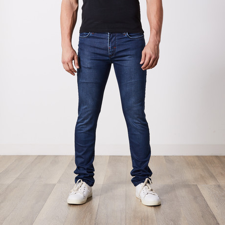 Slim Fit Jeans III // Dark Blue (29WX34L)