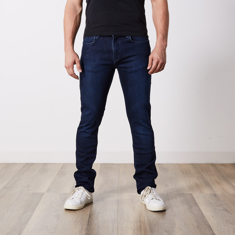 Slim Fit Jeans With Stretch // Blue + Black (29WX34L)