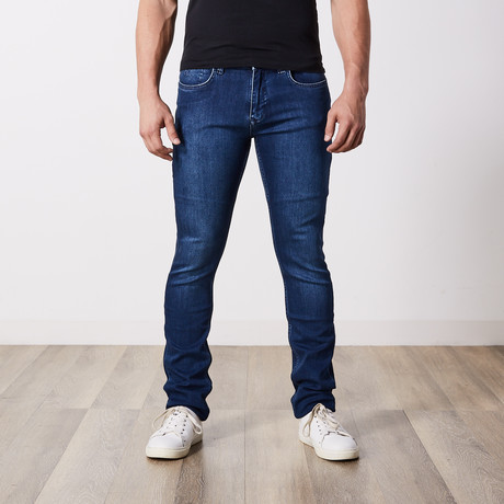 Slim Fit Blue Jeans // Blue (29WX34L)