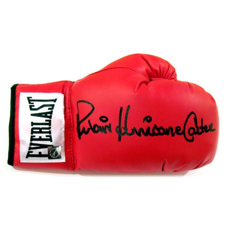 "Autographed Everlast Boxing Glove // Rubin ""Hurricane"" Carter"