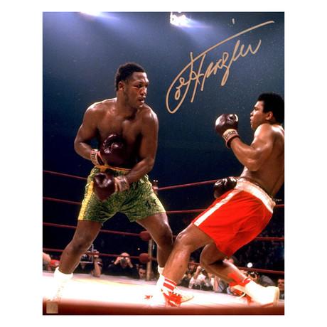 Joe Frazier Knocking Down Muhammad Ali