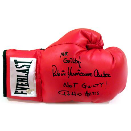 "Autographed Everlast Boxing Glove // Rubin ""Hurricane"" Carter + John Artis"