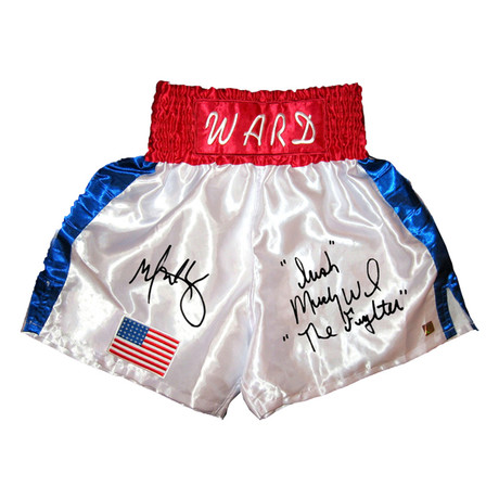 Autographed Boxing Trunks // Mark Wahlberg + Micky Ward