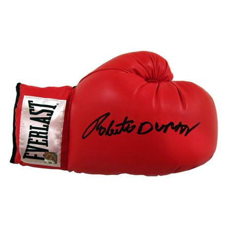 Autographed Everlast Boxing Glove // Roberto Duran