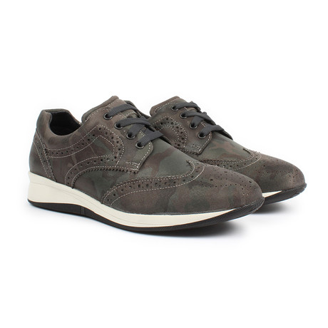 Sabatter // Franchesco Wingtip Casual Sneakers // Camouflage (US: 7)