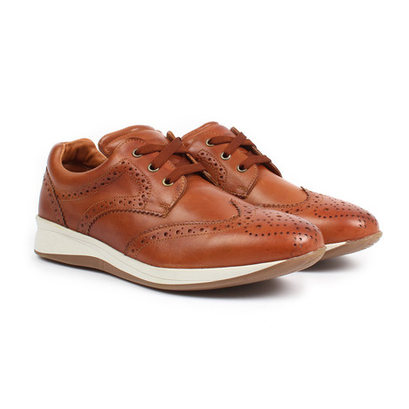 Sabatter // Franchesco Wingtip Casual Sneakers // Tan (US: 7)
