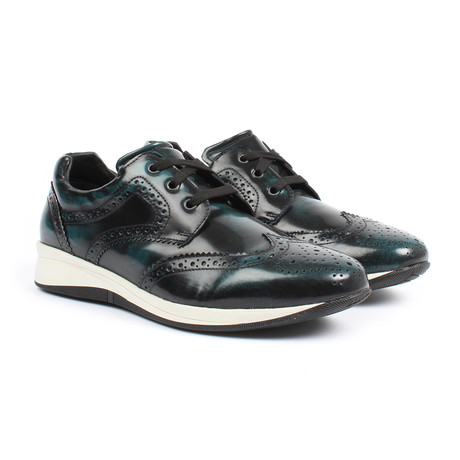 Sabatter // Franchesco Wingtip Casual Sneakers // Iguana Navy (US: 7)