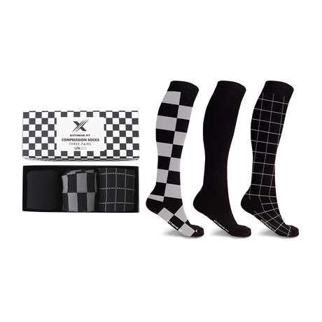 Perfect Gift Compression Socks // 3-Pairs (Small / Medium)
