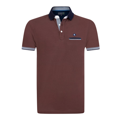 Whole Short Sleeve Polo // Brown (XS)