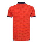 Darker Printed Short Sleeve Slim Fit Polo // Red (S)