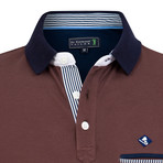 Whole Short Sleeve Polo // Brown (S)