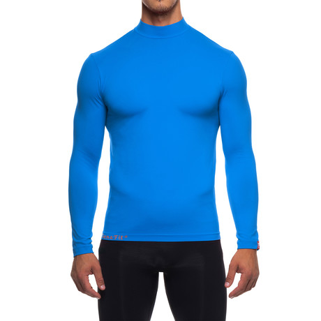 Infrared [AR] Mock Neck Long-Sleeve Shirt // Directoire Blue (XS)