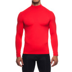 Infrared [AR] Mock Neck Long-Sleeve Shirt // Flame Scarlet (M)