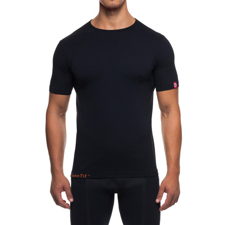 Infrared [AR] Crew Neck Short-Sleeve Shirt // Black (XS)
