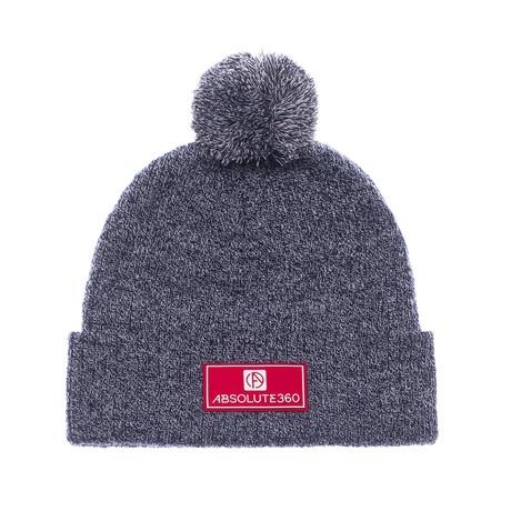 Rubber Patch Bobble Hat // Charcoal