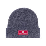 Rubber Patch Beanie Hat // Charcoal