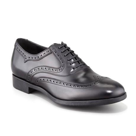 Sinesio Leather Wingtip Shoes // Black (US: 7)