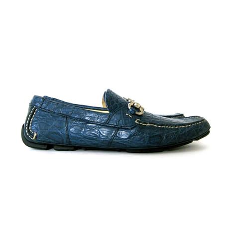 Parigi 3 Crocodile Horsebit Loafers // Blue (US: 7)