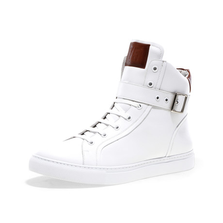 Blake-High Lace-Up Sneaker // White Pebble (US: 7)