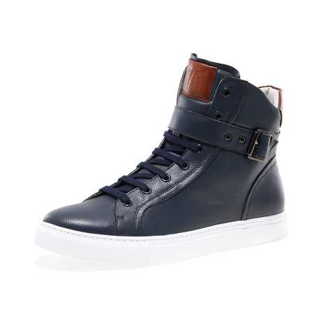 Blake-High Lace-Up Sneaker // Navy Pebble (US: 7)