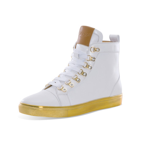 Savor Hiking Boot // White + Gold (US: 7)
