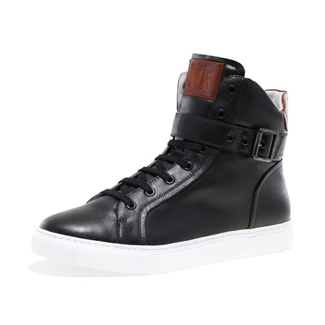 Blake-High Lace-Up Sneaker // Black Pebble (US: 7)
