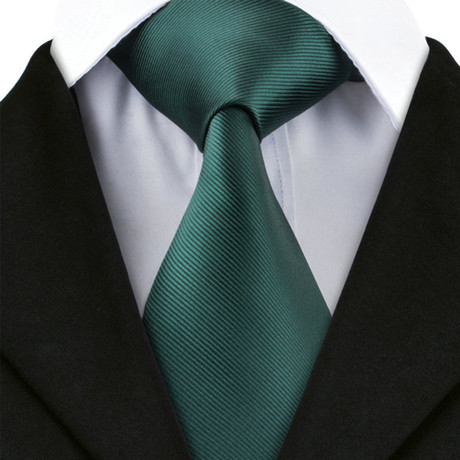 Abbey Handmade Tie // Pine Green