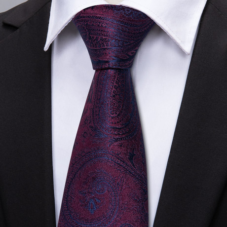 Monet Handmade Tie // Deep Burgundy