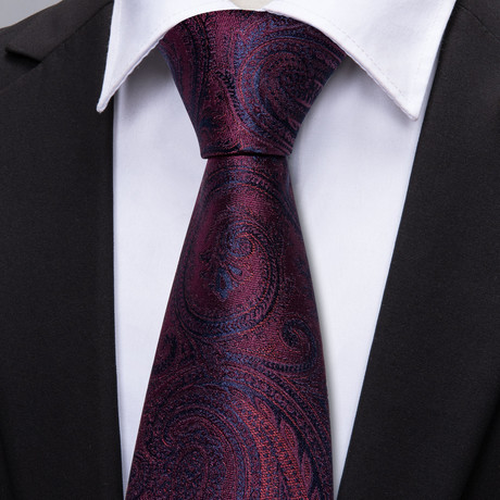 Paris Handmade Tie // Deep Wine