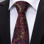 Vincent Handmade Tie // Dark Red