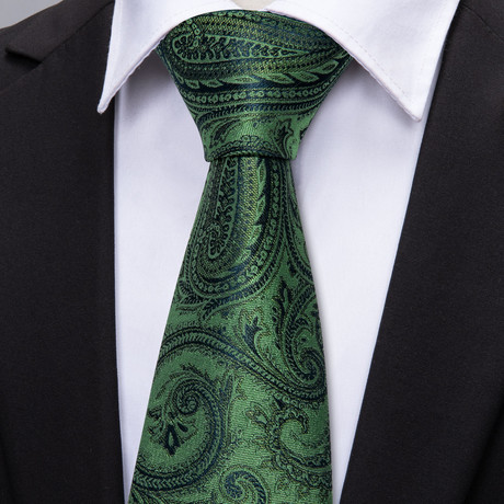 Avice Handmade Tie // Green