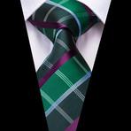 Vale Handmade Tie // Green + Purple Plaid
