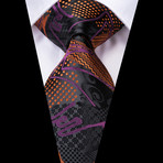 Pascale Handmade Tie // Black + Orange