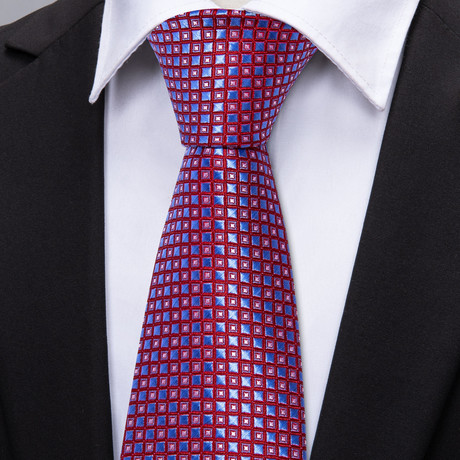 Westminster Handmade Tie // Red + Blue
