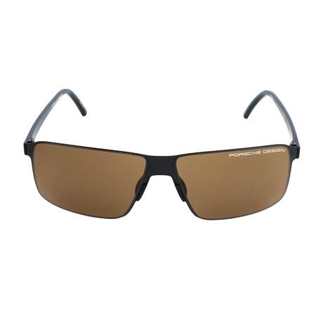 Men's P8646 Sunglasses // Black + Brown
