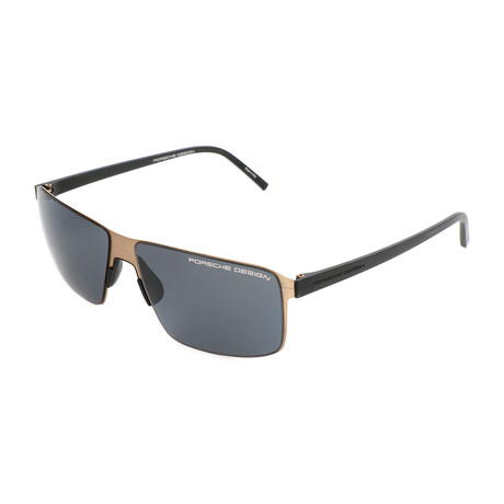 Men's P8646 Sunglasses // Gold + Gray