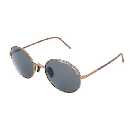 Unisex P8631 Sunglasses // Copper + Brown