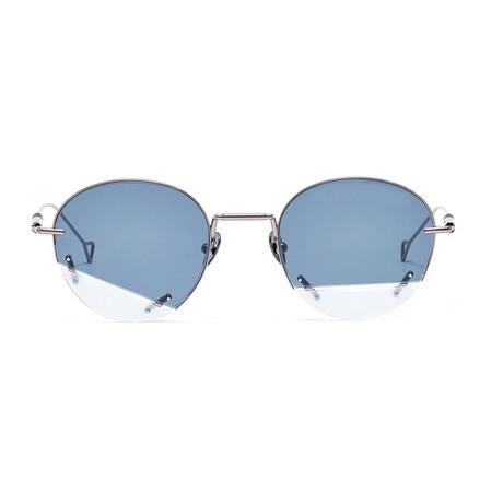 Vane Sunglasses // Silver Black + Solid Smoke