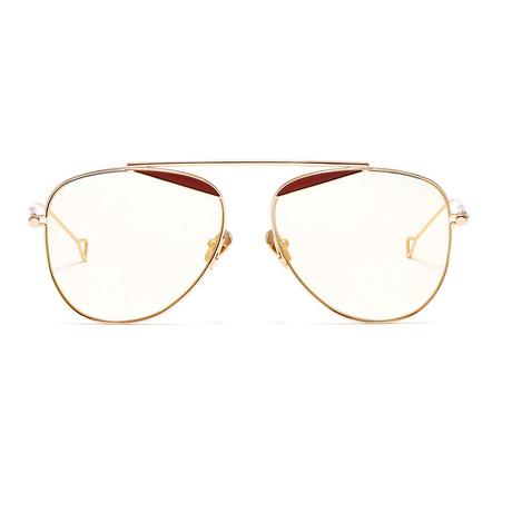 Durete Sunglasses // Golden + Gold Mirror
