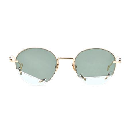 Vane Sunglasses // Green Mist + Solid Green