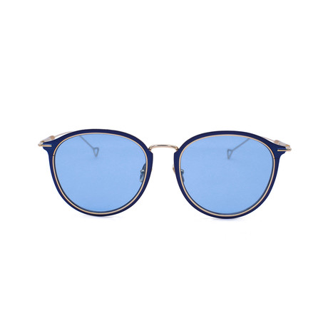 Lynne Sunglasses // Bottle Blue + Solid Bottle Blue