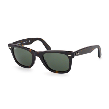 Ray-Ban // Original Wayfarer Sunglasses // Tortoise + Green