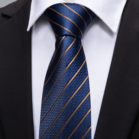 Notre Handmade Tie // Navy + Gold